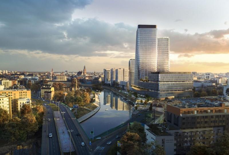 Budowa 140-metrowej wieży w centrum Wrocławia rozoczęta